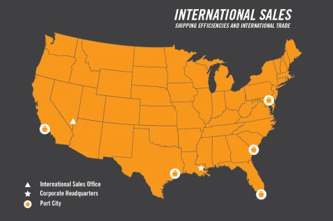 International Sales Map